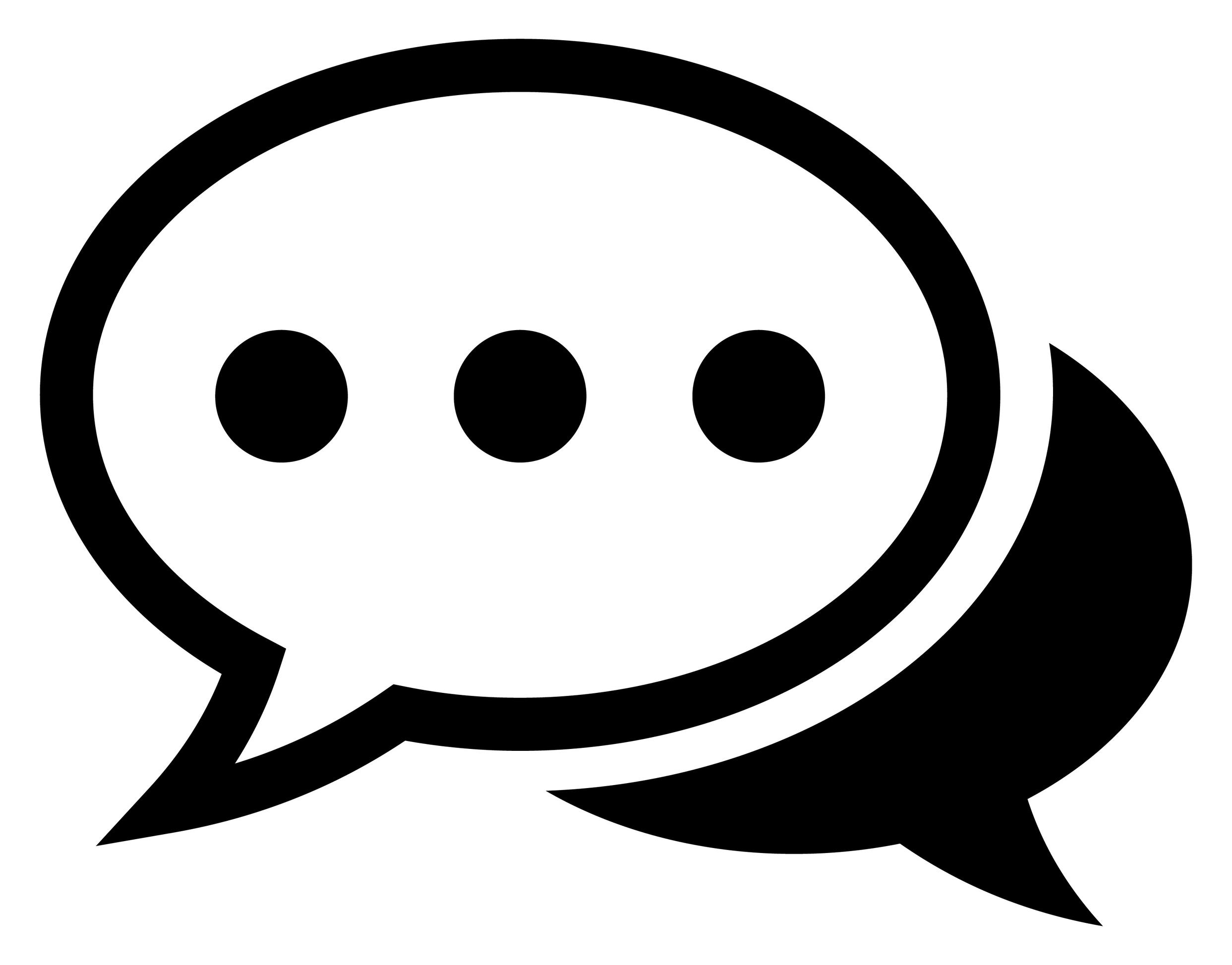 Sprechblasen als Symbol für Referenz Zitate